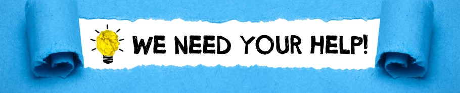 We need your help banner image