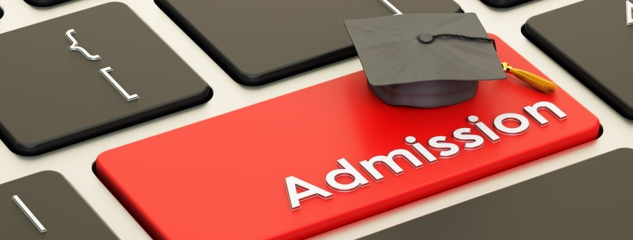 Admissions image - button on a keyboard