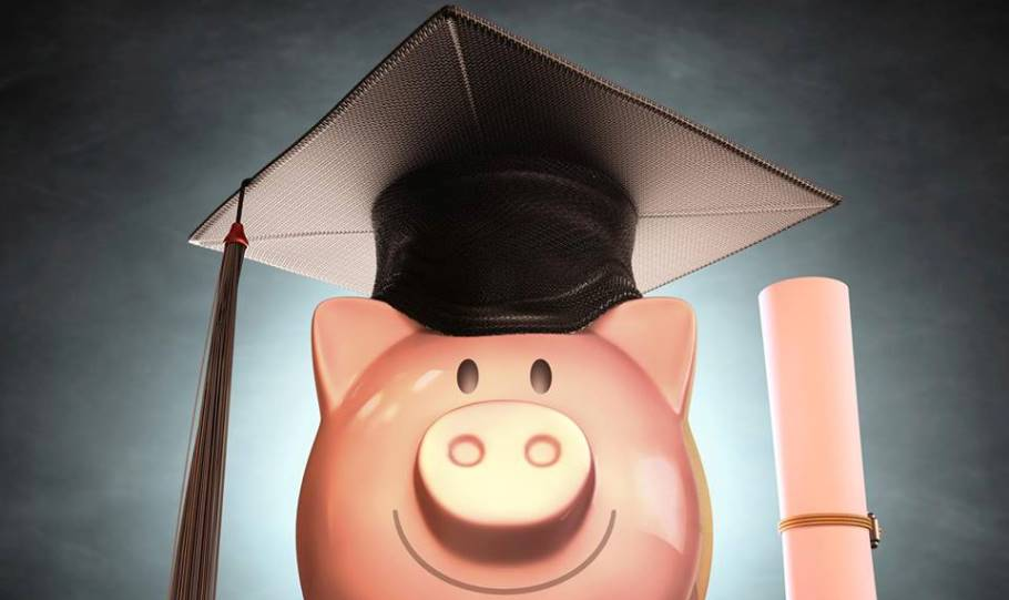 Picture of a money box with a graduation cap