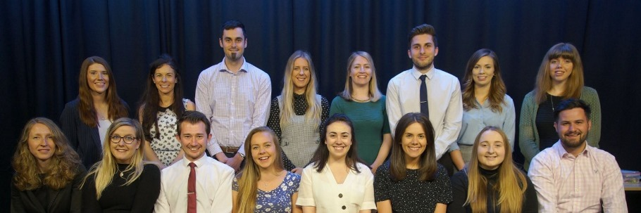 Image of members of the Schools and College team at Edge Hill University